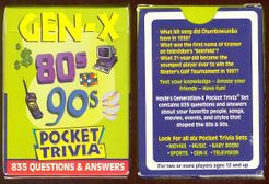 Pocket Trivia: Gen-X 80s & 90s
