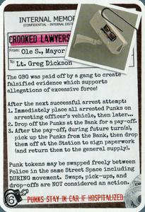 Police Precinct: Game Boy Geek Promo Card