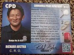 Police Precinct: Richard Austria Character Board