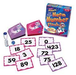 Professor Wacky's Neon Number Flash Game