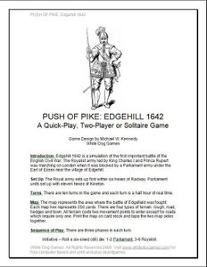 Push of Pike: Edgehill 1642