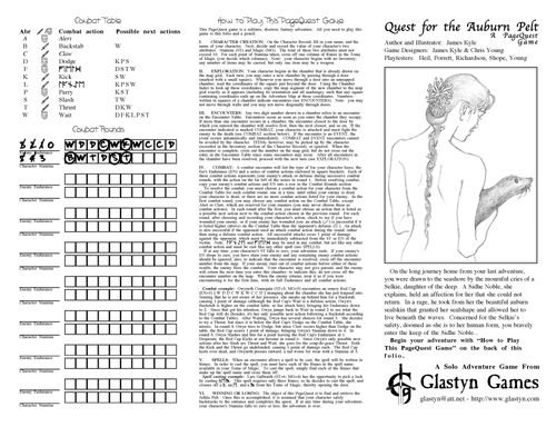 Quest for the Auburn Pelt: A PageQuest Game