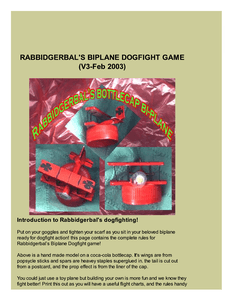 Rabbidgerbal's Biplane Dogfight Game