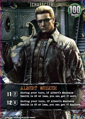 Resident Evil Deck Building Game: Albert Wesker GenCon Promo