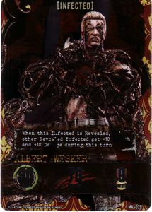 Resident Evil Deck Building Game: Infected Albert Wesker Foil Promo