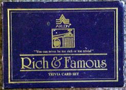 Rich and Famous Trivia Card Set