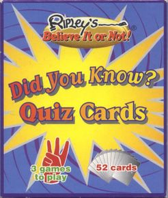 Ripley's Believe It or Not! Did You Know? Quiz Cards