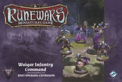 Runewars Miniatures Game: Waiqar Infantry Command – Unit Upgrade Expansion