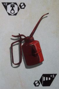Saltlands: Oil can promo card