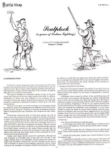 Scalplock (a game of Indian Fighting)
