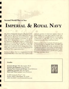 Second World War at Sea: Imperial and Royal Navy