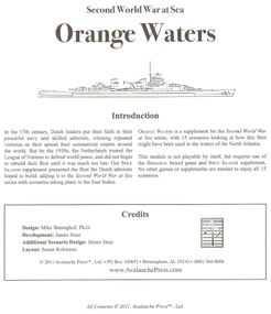 Second World War at Sea: Orange Waters