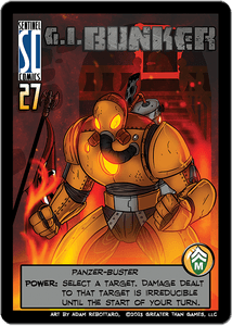 Sentinels of the Multiverse: G.I. Bunker Promo Card