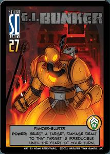 Sentinels of the Multiverse: G.I. Bunker Promo Card