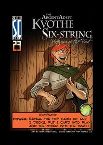 Sentinels of the Multiverse: Kvothe Six-String Argent Adept Promo Card