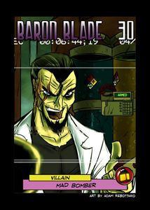 Sentinels of the Multiverse: Mad Bomber Blade Villain Promo Card