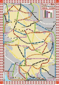 Serbia (fan expansion of Ticket to Ride)