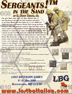 Sergeants!: In the Sand