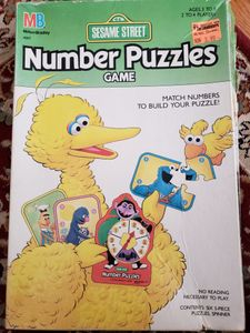 Sesame Street Number Puzzles Game