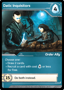 Shards of Infinity: Datic Inquisitors Promo Card