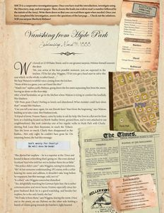 Sherlock Holmes Consulting Detective: Vanishing from Hyde Park