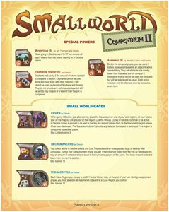 Small World Community's Compendium II (fan expansion for Small World)