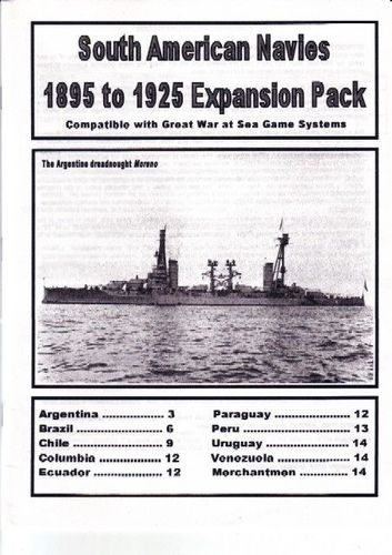 South American Navies 1895 to 1925 Expansion Pack