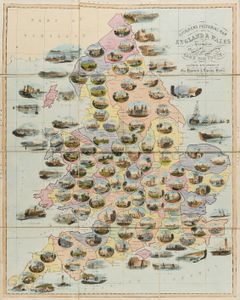 Spooner's Pictorial Map of England & Wales