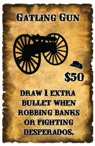 Spurs: A Tale in the Old West – Gatling Gun Promo Card