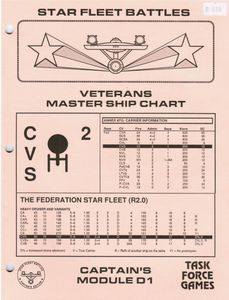 Star Fleet Battles: Captain's Module D1 – Veterans Master Ship Chart