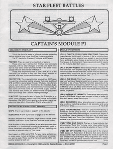 Star Fleet Battles: Captain's Module P1