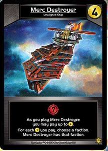 Star Realms: Merc Destroyer Promo Card