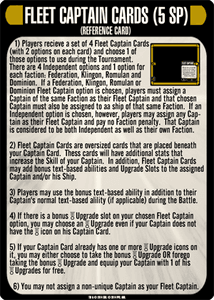 Star Trek: Attack Wing – Fleet Captains Resource