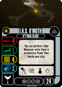 Star Trek: Attack Wing – Klingon: I.K.S. B'Moth – Collective OP Blind Booster Pack