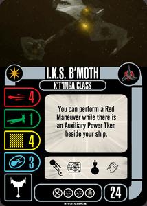 Star Trek: Attack Wing – Klingon: I.K.S. B'Moth – Collective OP Blind Booster Pack