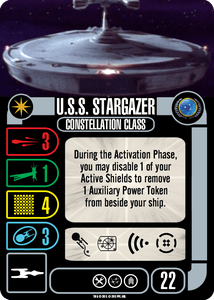 Star Trek: Attack Wing – U.S.S. Stargazer Federation Expansion Pack
