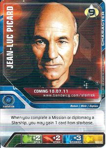 Star Trek Deck Building Game: The Next Generation – Release Date Ad Card – Jean-Luc Picard