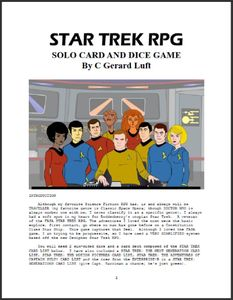Star Trek RPG Solo Card and Dice Game