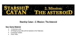 Starship Catan: 2. Mission – The Asteroid