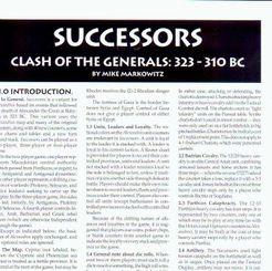 Successors: Clash of the Generals 323 - 310 BC