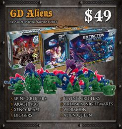 Sword & Sorcery: Galaxy Defenders Aliens Miniature Set