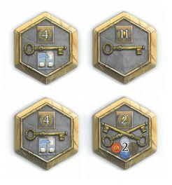 Terra Mystica: 4 Town Tiles