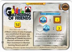 Terraforming Mars: Gathering of Friends Promo Card