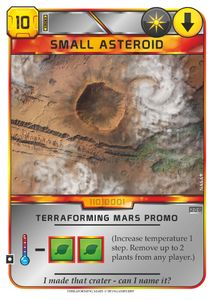 Terraforming Mars: Small Asteroid Promo Card