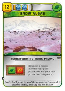 Terraforming Mars: Snow Algae Promo Card