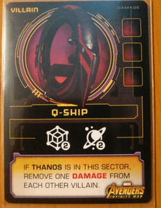 Thanos Rising: Avengers Infinity War – Q-Ship Promo Card