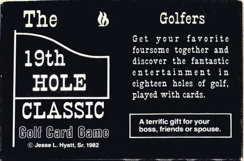 The 19th Hole Classic Golf Card Game