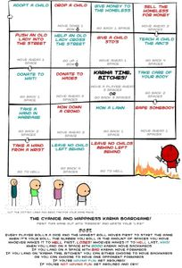 The Cyanide and Happiness Karma Boardgame