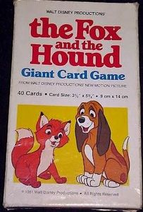 The Fox and the Hound Giant Card Game