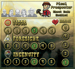 The Lost Dutchman: Pixel Prospector Player Board